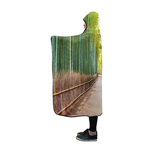 ecke Bambus Wald Japan Arashiyama Kyoto Decke 60x50 Zoll Komfortable Mit Kapuze Decke werfen ()