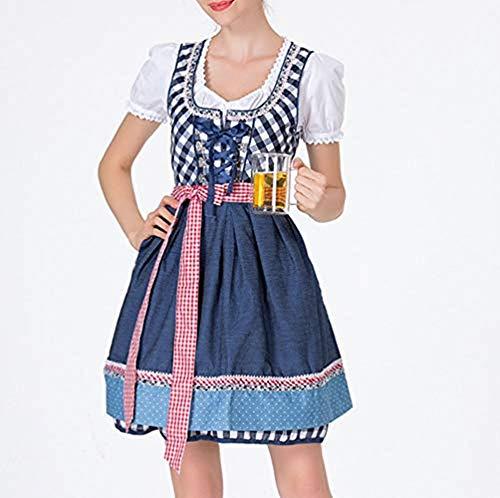 bloatboy Damen Verband Schürze Bayerische Oktoberfest Kostüme Bardame Dirndl Kleid Dress