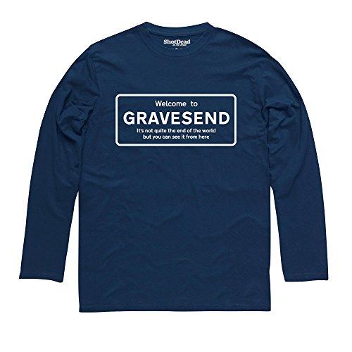 Not Quite The End Of The World - Gravesend Langarmshirt, Herren Dunkelblau