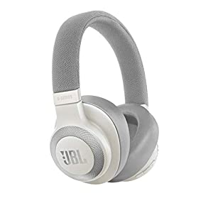 JBL E65 BTNC in White Gloss – Over Ear Active Noise Cancelling Wireless Bluetooth Headphones – Universal Remote w/ Microphone – Battery up to 24h