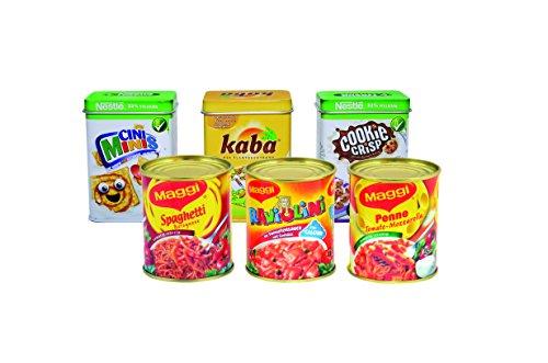 tanner-00689-set-di-barattoli-in-metallo-incl-3-confezioni-maggi-1-kaba-1-suchard-e-1-tchibo