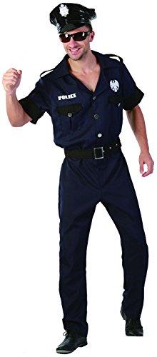 Lachen und Confetti–fiapol005–Kostüm für Erwachsene–Kostüm Polizist New York Luxe–Herren–Größe (Polizisten Erwachsene Kostüm Für)