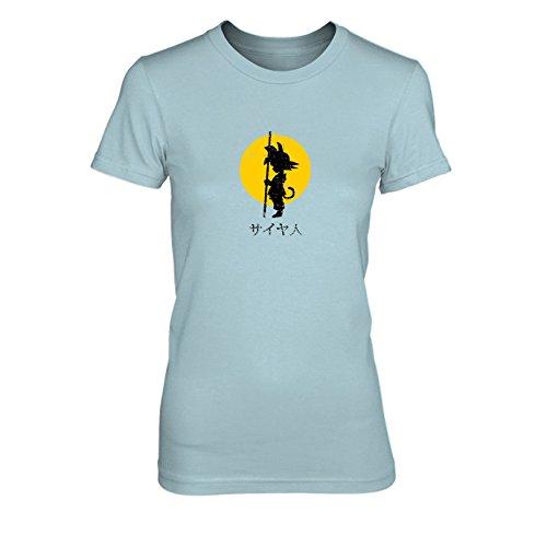 DBZ: SAIYA JIN Japanisch - Damen T-Shirt, Größe: XL, Farbe: hellblau