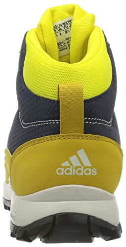 adidas  Hyperhiker, Bottines de randonnée mixte enfant Jaune - Gelb (Midnight Grey F15/Core Black/Raw Ochre F15)