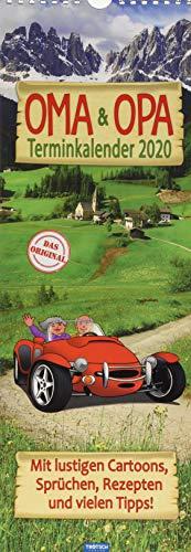 """Maxi-Streifenkalender \""""Oma und Opa\"""" 2020: 15 x 42 cm, mit aufwendiger Rückseitengestaltung"""