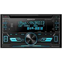 Kenwood DPX3000U - Radio para coches (pantalla LCD, entrada auxiliar y USB, 2 DIN, FM/AM, reproductor CD, soporte MP3/WMA/WAV), color negro (importado)