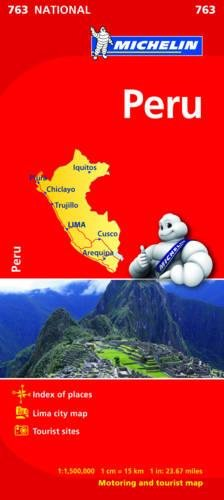 Peru - Michelin National Map 763 (Michelin National Maps)