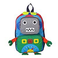 Kids Backpack Kindergarten Cartoon Schoolbag Robot Book Bags With Adjustable Straps For Toddler