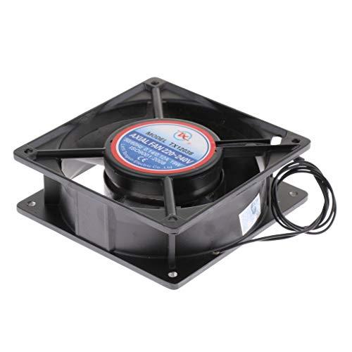 Homyl Ersatz Ventilator Lüfter Luftventilator Kühlventilator Kühlung Fan für Inkubator Brutapparat - Schwarz