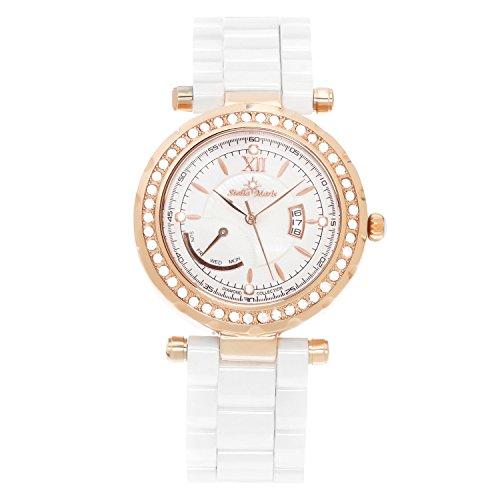 Stella Maris STM15R10 - Reloj de Cuarzo con Correa de cerámica para Mujer, Color Blanco