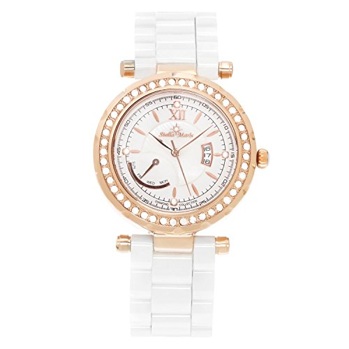 Stella Maris Damen-Armbanduhr Analog Quarz Premium Keramik Diamanten - STM15R10