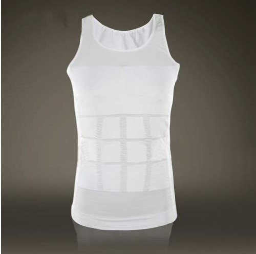 ZURU BUNCH Slimming Tummy Tucker Slim & Lift Body Shaper Vest / Men's Undershirt Vest To Look Slim Instantly :-White Color