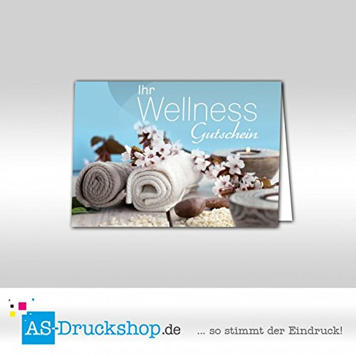 Gutschein Wellness - Handtuch / 25 Stück/DIN A6