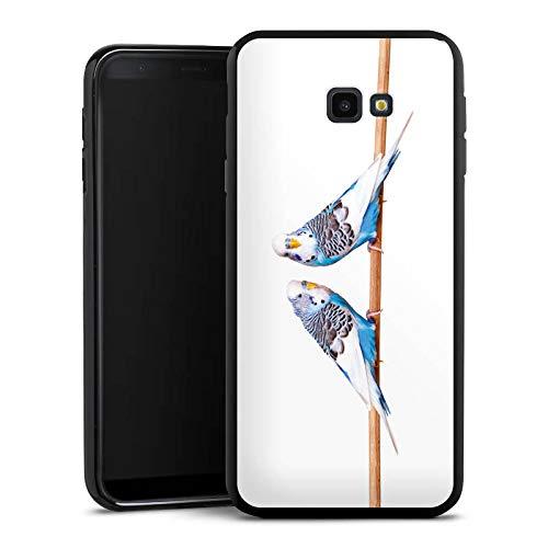 DeinDesign Silikon Hülle kompatibel mit Samsung Galaxy J4 Plus Duos (2018) Case Schutzhülle Bird Vogel Sittich -