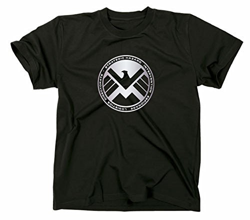 S.H.I.E.L.D. Logo T-Shirt, shield, XL, schwarz -