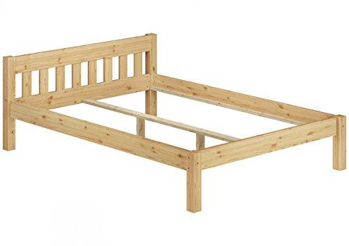 Erst-Holz® Ehebett Doppelbett 180x200 Massivholzbett Kiefer Natur Futonbett ohne Rollrost 60.38-18 oR -
