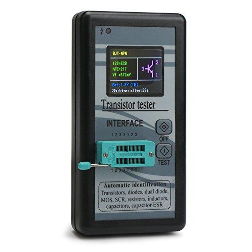 Droking Farbbildschirm-Multifunktionstransistor-Prüfvorrichtung Checker-Induktivitäten/Widerstände / Kondensatoren/Dioden / Doppel-Dioden/FET / SCR/ESR / PNP/NPN / MOS Prüfvorrichtung-Meter