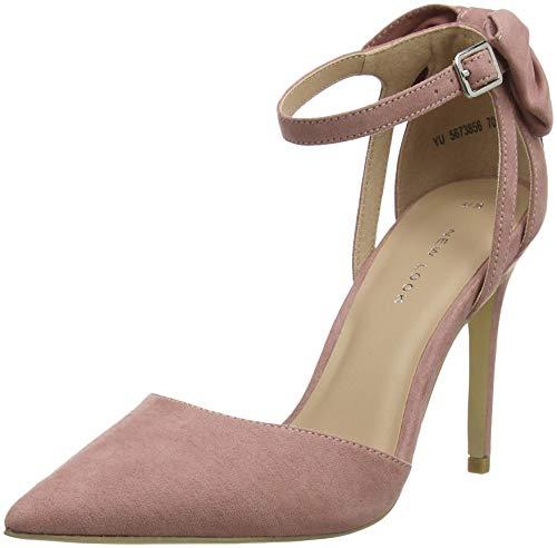 New Look Softy, Zapatos de Tacón con Punta Cerrada para Mujer, Rosa (Light Pink 70), 40 EU