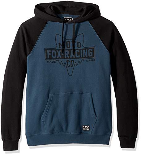 Fleece-screen-print Sweatshirt (Fox Herren Flathead Pull Over Fleece Kapuzenpulli, Navy, X-Groß)