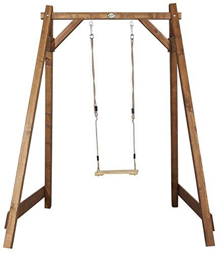 Preisvergleich Produktbild 6.6.5.3095: Einzelschaukel für Kinder - Holzschaukel - Kinderschaukel - Gartenschaukel - produziert in BRD