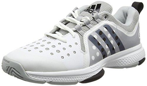 adidas Herren Barricade Classic Bounce Tennisschuhe, Weiß (Ftwr White/Core Black/Clear Onix), 43 1/3 EU