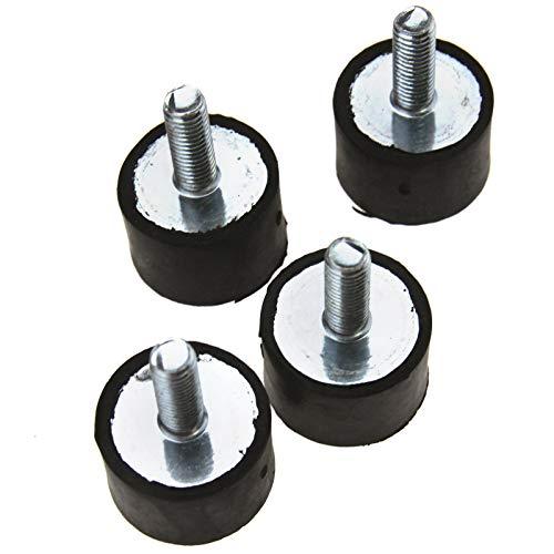 ENET 4 pcs Anti Vibrations en Caoutchouc Bobine Mounts M8 mâle Femelle Bateau de Voiture Amortisseur de 20 x 30 mm