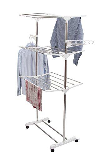 1PLUS Premium praktischer, mobiler Wäschetrockner Turmtrockner/Laundry tower Uwe - mit 3 Etagen