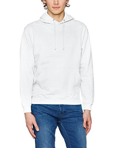 AWDis Herren Kapuzenpullover College Hoodie, Weiß, Small Weiß (Arctic White)