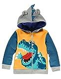 LitBud Boys Felpe con cappuccio per bambini Toddler Cartoon Dinosaur Jurassic World Park Zipper Packaway Autumn Coat Regno Unito 4-5 anni 5T