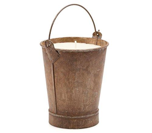Preisvergleich Produktbild ST EVAL klein Bronze Rusty Bucket Kerze – Lavendel (im Gartenschuppen Collection)
