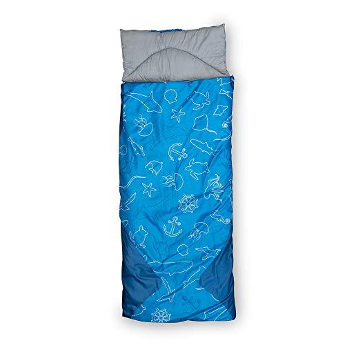 outdoorer Dream Sailor Kinderschlafsack Baby Kind & Meer Edition: Kinderschlafsack mit Kissen und Rucksackfunktion