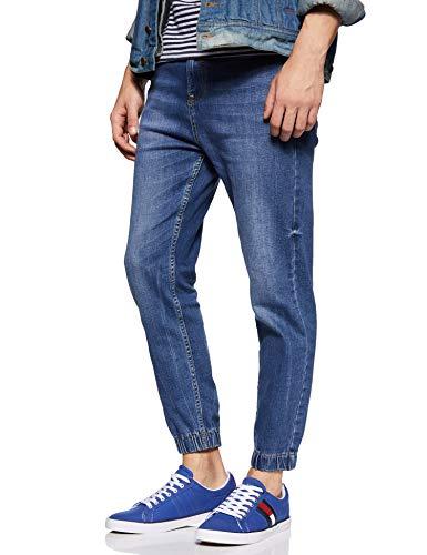 TOMMY HILFIGER Men's Cobalt Blue/Th Navy Sneakers-10.5 UK/India (45 EU) (P9BMF129)