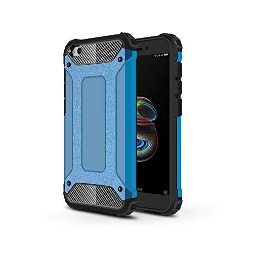 TANYO Funda Adecuado para Xiaomi Redmi Go, Pesats caixa del telèfon de Anti-Caiguda, extraïble 2 a 1 a Prueba de Golpes Robusto y Durable Fashion Ultra-Thin Funda Protectora, blau