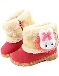 Eagsouni Niños Invierno Botines Calentar Botas De Nieve Ante Anti-deslizante botón Zapatos Botas de Trabajo