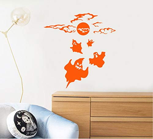Lovemq Wandtattoo Ghost Halloween Kunst Wandaufkleber Happy Holiday Home Dekoration Kinderzimmer Dekor Geschenk Diy 57X59 Cm