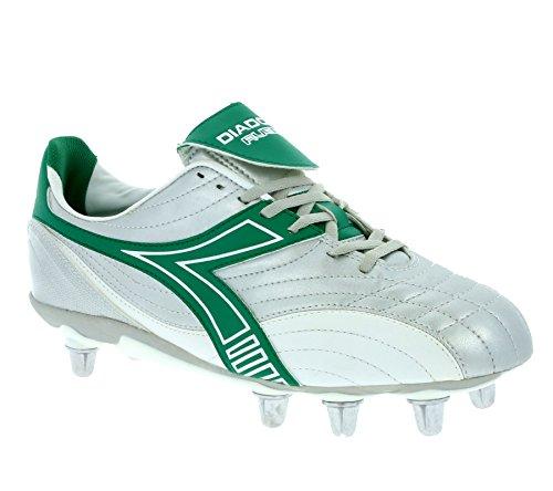 Diadora Rugby Low R SC 8 Schuhe Herren Rugby-Schuhe Sportschuhe Silber 145238 01 C1971