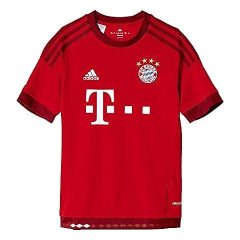 adidas Jungen Fußballtrikot FC Bayern München Heim Replica, FCB true red/craft red, 152, S08605 (Fc Bayern München Trikot 2015)