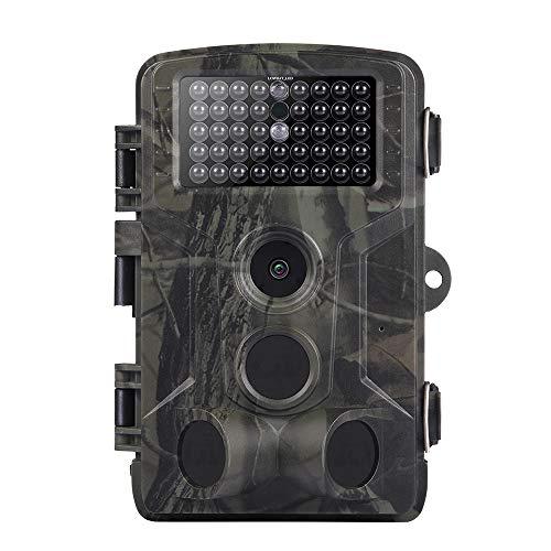 Hinterkamera, 16MP 1080P Wildkamera mit 42 Stück IR-LEDs, tragbare wasserdichte Mini-Tracking-Kamera für Wildtiere, Bauernhof und Sicherheit zu Hause