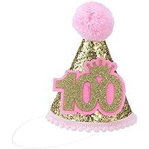 576975e7e45cd TOYMYTOY Sombrero de Cono de Fiesta con Número Gorros de Cumpleaños del  Partido para Niños (