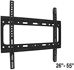 Maxcart Universal Fixed LCD/LED Plasma TV Wall Mount for Screen Size 26''- 50'' - VESA - 400 x 400 - Extra Close to Wall (2.5cm,0.97inch)