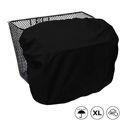 Extra große, wasserdichte Regenhülle / Abdeckung für Fahrradkörbe - MadeForRain CityTurtle XL - Tiefschwarz