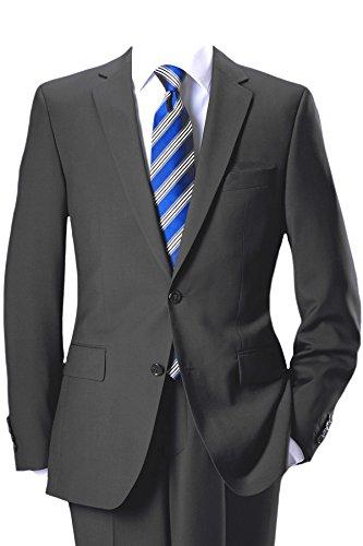 Pierre Cardin 2-pulsante-divisa in fine Marzotto panno in grigio antracite Antracite