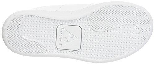 Le Coq Sportif Courtone Ps S Lea/Metallic, Formatori Bassi Unisex – Bambini Bianco (Optical White/rose G)