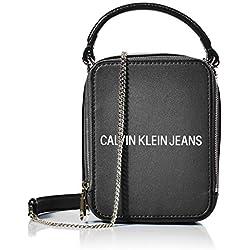 Calvin Klein SCULPTED NS CAMERA BAGMujerBolsos bandoleraNegro (Black) 9x16x12 centimeters (B x H x T)