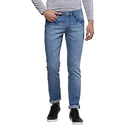 Urbano Fashion Men's Light Blue Stretchable Slim Fit Jeans (Size : 36)