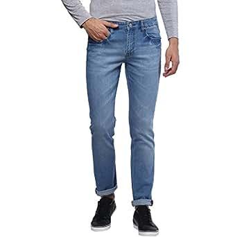 Urbano Fashion Men's Light Blue Stretchable Slim Fit Jeans (Size : 28)