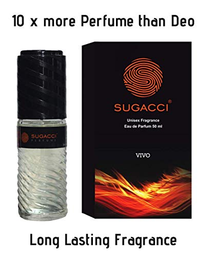 Sugacci Vivo EDP for Men, 10x more Perfume than deodorant, 50ml