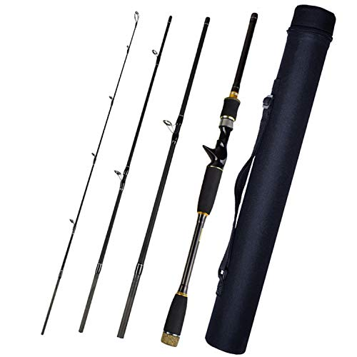 Love every day 4 Section Lure Rod 1.8M/2.1M/2.4M/2.7M/3.0M Carbon Spinning Fishing Rod Travel Rod M Power Casting Fishing Pole Vava De Pesca,Casting with Tube,3.0 M (Ugly Stick-ice Rod Fishing)