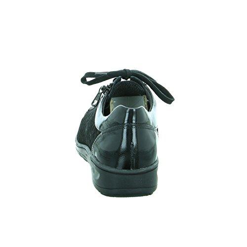 Solidus 29001-00499, Scarpe stringate donna Nero
