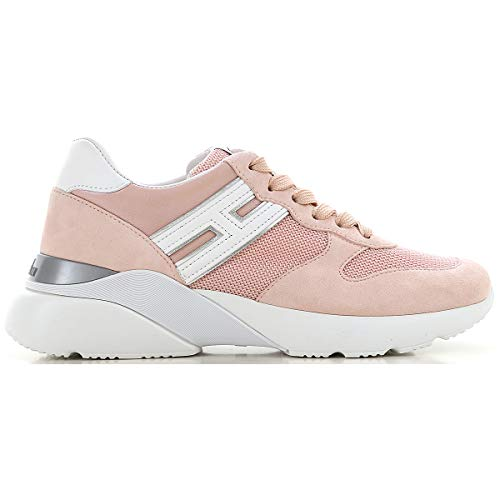 Hogan Scarpe Donna Sneakers Basse HXW3850BF50KX101GY Active One Taglia 38.5 Rosa-Bianco